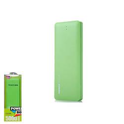 Портативное зарядное устройство Power Bank Remax Candy 5000mAh Green, КОД: 1155048