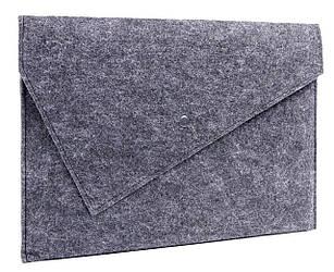 Фетровый чехол-конверт Gmakin для Macbook Air 13 2012-2017   Pro Retina 13 2012-2015 Черный GM06, КОД: 1841182