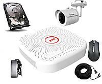 Комплект AHD видеонаблюдения Longse XVR2004PGH1N, КОД: 146769