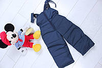 Детский комбез с подтяжками на рост 86-110, тёмно-синий