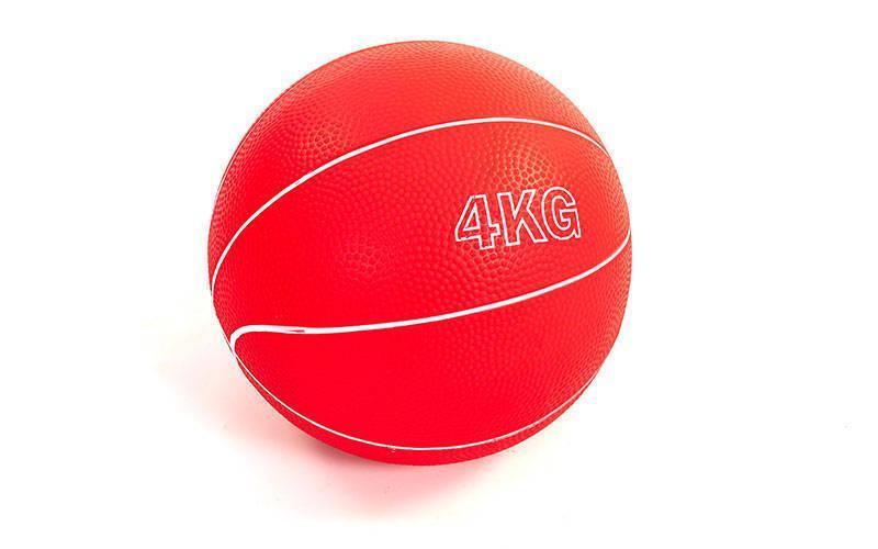 Мяч медицинский медбол Record Medicine Ball SC-8407-4 4кг (верх-резина, наполнитель-песок, d-17см,цвета в