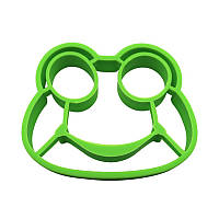 Силиконовая форма для жарки яиц CUMENSS Лягушка Green 5677-19068, КОД: 2452213