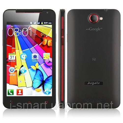 Smart Phone MTK6517 Dual Core Android 4.0 FM WiFi 5.0 Inch 4GB TF Card- Black