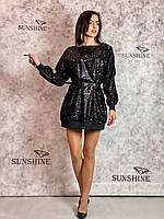 Жіноча сукня з паєтками Poliit 8790