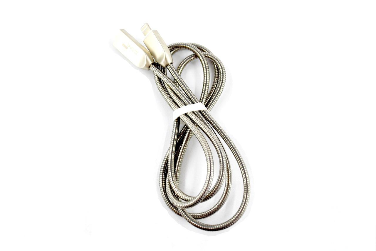 Кабель Usb-cable iPhone 4you Averina (2000mah, метал, стальной)
