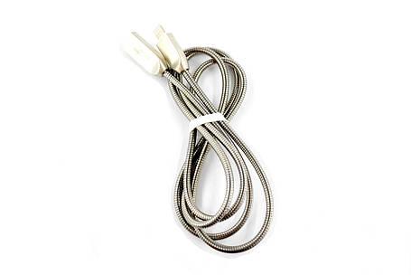 Кабель Usb-cable iPhone 4you Averina (2000mah, метал, стальной), фото 2