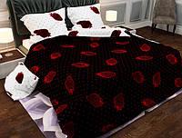 Семейный набор хлопкового постельного белья из Бязи Gold 151336AB Черешенка BC4G151336AB, КОД: 1891526