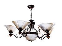 Люстра подвесная на 5 плафонов Sunlight ST701 Белый с коричневым 563351, КОД: 1286749