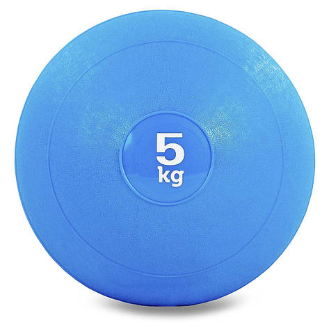Мяч набивной слэмбол для кроссфита Record SLAM BALL FI-5165-5 5кг (резина, минеральный наполнитель, d-23см,, фото 2
