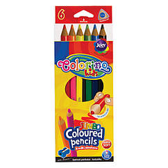 Карандаши Colorino Jumbo трехгранные 6 цветов с точилкой 57431PTR, КОД: 2447086