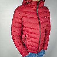 Куртка мужская зимняя бордовая