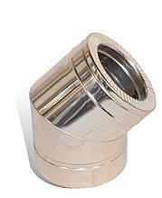 Коліно із нержавіючої сталі Versia-Lux ф 300   360 мм кут 45 гр 1 мм з термоізоляцією в нержавіюч, КОД: