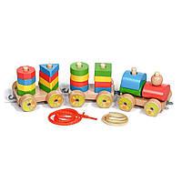 Игрушка развивающая из дерева Мир деревянных игрушек Паровозик Д163, КОД: 2440934