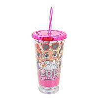 Тамблер-стакан YES с подсветкой LOL Juicy 490 мл с трубочкой 707037, КОД: 1563770