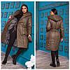 Теплое пальто женское батал