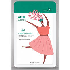 Увлажняющая маска для лица Young Mediface Aloe Mask Pack 25 г 8809520250184, КОД: 1872959