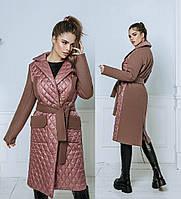 Пальто  женское стеганое    батал Аманда, фото 1