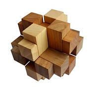 Деревянная головоломка Круть Верть Крест Альтекрузе 8х8х8 см nevg-0047, КОД: 119422