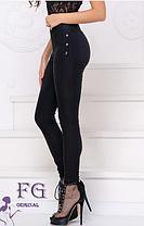 """Лосины леггинсы теплые большого размера джинс-коттон на флисе """"Daily"""", фото 2"""