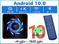 Смарт ТВ приставка X96Q MAX 4гб 32гб Android 10 Allwinner H616 tv box 4/32 ТВ Фильмы Youtube Приложения