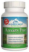 Комплекс для Снижения Стресса Anxiety Free RidgeCrest Herbals 60 гелевых капсул, КОД: 1878325