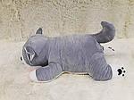Плед - мягкая игрушка 3 в 1  Собачка серая  (99), фото 2