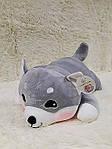 Плед - мягкая игрушка 3 в 1  Собачка серая  (99), фото 4