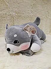Плед - мягкая игрушка 3 в 1  Собачка серая  (99)