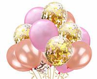 Набор воздушных шаров с конфетти 1013 ( 15 шт )