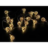 Гирлянда Xmas Golden Lamp 7400 20 LED WW-2, 4 м, желтый свет