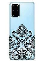 Прозрачный силиконовый чехол iSwag для Samsung Galaxy S20 Plus Мандала M1091, КОД: 1604774