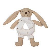 Игрушка-погремушка мягкая Кролик, Canpol babies - бежевая
