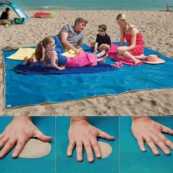 Пляжное покрывало Sand Free Mat Синий (258472), фото 2