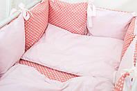 Бортики в детскую кроватку Хлопковые Традиции 30х30 см 6 шт Персиково-розовый, КОД: 1639817