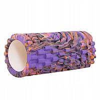Массажный ролик валик, роллер Springos Mix Color 33 x 14 см FR0019, КОД: 2405888