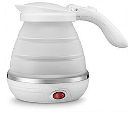 Дорожный чайник силиконовый складной дисковый Eltctric Kettle wdl-09b 220v 800w 600мл Белый 0192, КОД: 2372931