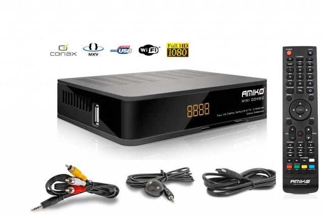 Миниатюрный Full HD  ресивер Amiko Mini Combo HD