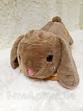 Плед - мягкая игрушка 3 в 1  Заяц коричневый (102)
