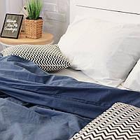 Комплект постельного белья Хлопковые Традиции Полуторный 155x215 Бело-синий PF032полуторный, КОД: 353893
