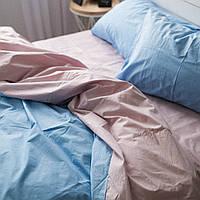 Комплект постельного белья Хлопковые Традиции Евро 200 x 220 см Светло-розовый с голубым PF05евро, КОД: 740646