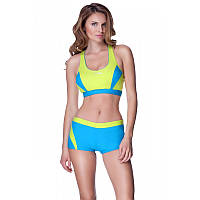 Женский раздельный купальник Aqua Speed Fiona Спортивный 40 Желто-голубой aqs081, КОД: 961482