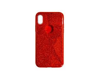 Чехол-накладка с блестками для Apple IPhone X Xs Red 1594, КОД: 289060