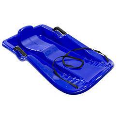 Снегокат с веревкой Kronos Toys Лодка 86 х 46 см Синий WSP170027, КОД: 1339577