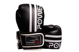 Боксерські рукавиці PowerPlay 3010 12 унцій Чорно-Білі PP301012ozBlack White, КОД: 1138785