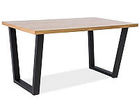 Стол обеденный Signal VALENTINO 120x80 Дуб Черный VALENTINO120, КОД: 2351161