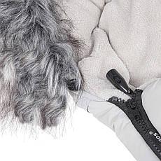 Детский конверт для коляски, санок Maxi 4 в 1 Springos SB0025 White, фото 3