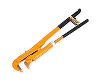 Ключ трубный Polax 90 градусов 1-1 2 обрезиненная рукоятка 44-008, КОД: 2361127