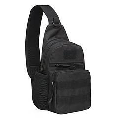 Рюкзак тактический на одно плечо AOKALI Outdoor A14 2L Black 5368-16999, КОД: 2404268
