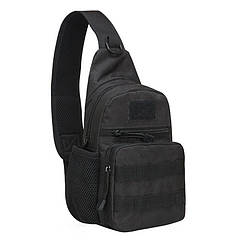 Рюкзак тактичний на одне плече AOKALI Outdoor A14 20L Black 5368-16999, КОД: 2404268