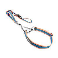 Ошейник удавка для собак TUFF HOUND TC00106 Pink Blue L 50-70 см с поводком 5315-16530, КОД: 2402552